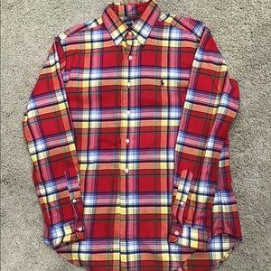 Men's Ralph Lauren long sleeve plaid shirt